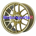 18 XXR 530 Gold Concave Rims Staggered Wheels 5x1143 Fits Infiniti G35 Coupe S