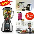6 Cup Black Stainless Steel Crush Reverse Glass Blender Counterforms Blending