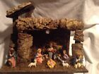 Vintage Wooden Creche Nativity Set Manger Made in Italy