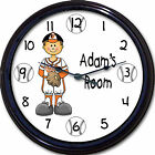 Baltimore Orioles Baseball Camden Yards Os Davis Personalized Wall Child Clock