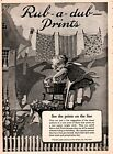 1925 AD FABRIC RUB A DUB PRINTS KANT FADE LAUNDRY LITTLE GIRL PATTERNS ZEPHYR