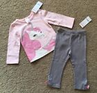 Toddler Girl 12 18 Month Gymboree Pink Unicorn Top  Bow Leggings Outfit