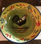 PROVENCE ROOSTER COLLECTION Baum Brothers Style Eyes LARGE Serving Bowl NICE