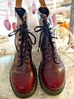 Dr Doc Martens 14585 Airwair Cherry Red Ankle Boots Womens SZ 9 US Vegan