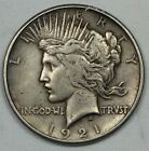 KEY DATE HIGH RELIEF 1921 SILVER PEACE DOLLAR 1 2