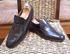 Churchs England Black Strap Stitched Leather Loafers Shoes Size 13 D 46 EU