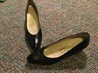 SALVATORE FERRAGAMO Black Crocodile Embossed Leather Low Block Heel Pumps Size 9
