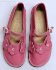 BEAR FEET Girls Pink Leather Flower Mary Janes Shoes Youth Sz 3