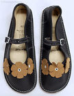 BEAR FEET Girls Brown Leather Flower Mary Janes Shoes Youth Sz 3 NEW