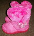 NWT LA BEAUTY SZ 6 PINK BOOTS GIRLS CUTE TODDLER INFANT WINTER SHOES SUEDE FUR