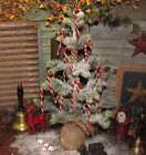 12 Primitive Vtg Style OLD TYME Chenille CANDY CANE Christmas Tree 4