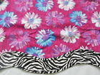 New WAVERLY Daisy Hot Pink Zebra Girl VALANCE Curtain Mod Flower Animal Print