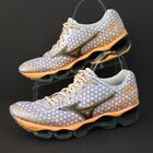 Womens Mizuno Wave Prophecy 3 running shoes sneakers size W11 Silver Orange