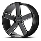 20 Inch Black Wheels Rims Dodge Charger Challenger RT Magnum KMC KM702 5x115