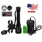 Night Vision Torch Long Range Infrared IR 850nm LED Light 2x18650 Battery+Switch