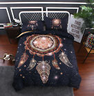 Dream Catchers Print Black Duvet Covers Set US Native Culture Beddings