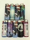 BIC Prismatic Full Size Disposable Lighters Assorted Styles Set Of 9