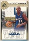 MICHAEL JORDAN 2003 04 SP GAME USED AUTHENTIC FABRIC GOLD WIZARDS JERSEY # 100