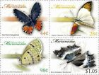 Micronesia Butterflies of the World Stamps 4v MNH