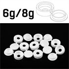 SMALL WHITE PLASTIC SCREW COVER CAPS HINGED FOLD OVER TO FIT SIZE 6g or 8g GAUGE
