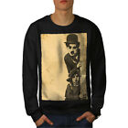 Charlie Chaplin Celebrity Men Sweatshirt NEW  Wellcoda