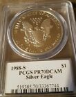 1988 S Silver Eagle Mercanti PCGS PR70DCAM 725 WAY Below PCGS Price Guide