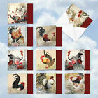 MQ4940OCB B1x10 General Tsos Chicken 10 Assorted Blank All Occasions Note Card