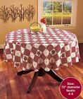 ROUND TABLECLOTH HEARTS  STARS PRIMITIVE COUNTRY KITCHEN TABLE DECOR 70