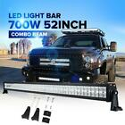 52inch 700W CREE LED Work Light Bar Combo Offroad For Jeep Wrangler JK TJ YJ 50