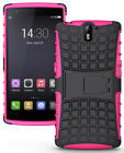 PINK GRENADE GRIP RUGGED TPU SKIN HARD CASE COVER STAND FOR ONEPLUS ONE PHONE