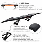 Bat GT-Style Car Real Carbon Fiber Rear Trunk Spoiler Wing + LED Brake Light
