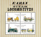 Grenada Trains Early Steam Locomotives Stamp Sheet of 4 MNH