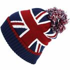 Beanie Hat Cap Bobble Warm Winter UNION JACK Macahel Soft Lining Men Lad