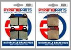 Front & Rear Brake Pads for Sachs XTC / X-Road 125 2008