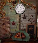 Primitive Vtg Style General Store Hanging Basket Produce Scale Clock Gift Idea