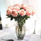 1X Head Small Rose Bush Artificial Flowers Bouquet Beauty Fake Silk Crafts