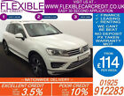 2015 VW TOUAREG 30 TDI V6 R LINE GOOD BAD CREDIT CAR FINANCE FROM 114 P WK