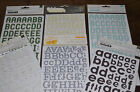 NIP CHIPBOARD LETTERS STICKERS from American Craft Scrapbooking YOU PICK
