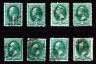 USA STAMP 19th 3c Green Fancy Cancel Stamps Collection Lot 1