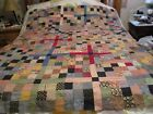 Vintage Handmade Cotton Quilt Top - 60