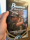 2014 Bowman Chrome Factory Sealed Hobby Box (2 autos in every box)
