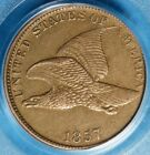 1857 Flying Eagle Cent PCGS AU50 Well Struck Sharp Looking Example