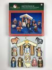 Kurt S Adler Childs First Nativity Set 12 Wooden Figures Manger Original Box