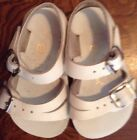 Sun San Salt Water Leather Sandals 1Pair White PreOwned Sz3 PreOwned Good Cond