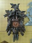 GORGEOUS DELUXE HAND CARVED CUCKOO CLOCK.. WITH DANCERS AND MUSIC..  WORKS GREAT
