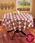Hearts Stars Berries Tablecloth Linen Country Theme 70 Round Primitive Kitchen