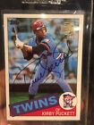 2001 Topps Archives KIRBY PUCKETT RC AUTO Rookie Reprint Autograph SP SSP