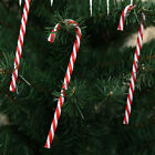 Plastic Candy Cane Christmas Tree Hanging Decor Red and White Xmas Ornament