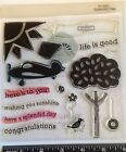 Close To My Heart D1462 SPLENDID DAY Airplane Tree Phrases Sun Clear Stamp Set