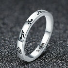 Romantic 925 silver musical note Finger Rings for Womens Valentines Day Gifts